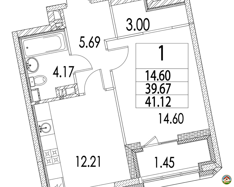 Продается 1-к квартира в ЖК Зиларт