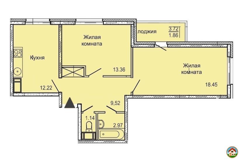 2-комнатная квартира 60 м² в  ЖК Шуваловский дуэт